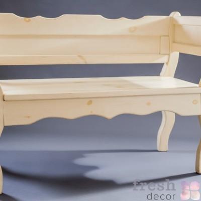 лавка белая деревянная