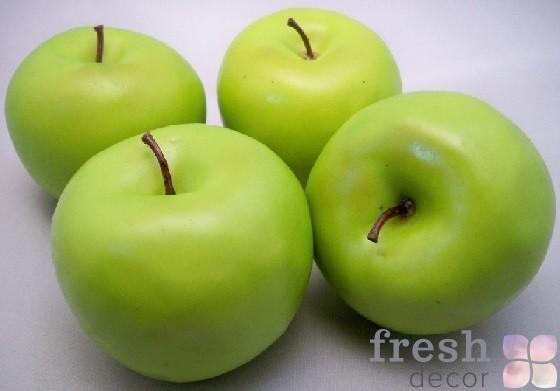 4 больших искусственных зеленые яблоки фрукты