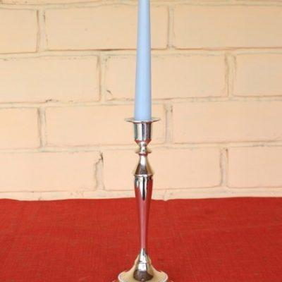 канделябр на 1 свечу в аренду из серебра