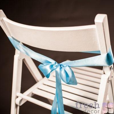 лента на стул голубого цвета1