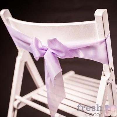 лента на стул нежно сиреневого цвета