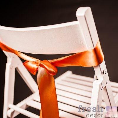 лента на стул оранжевого цвета