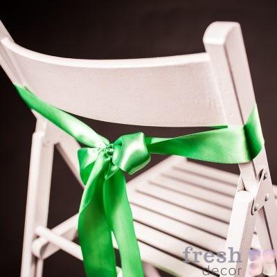 лента на стул салатового цвета