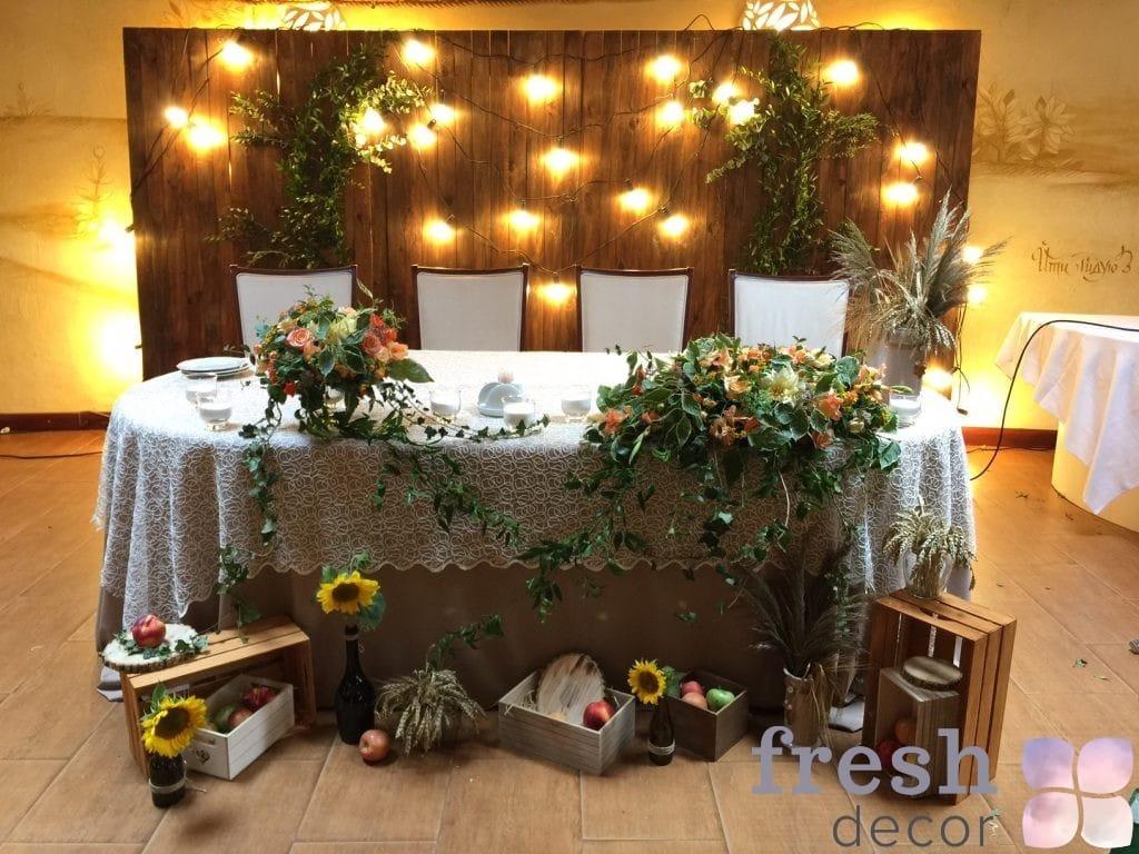 Ширма из дерева на задник на свадьбу в аренду