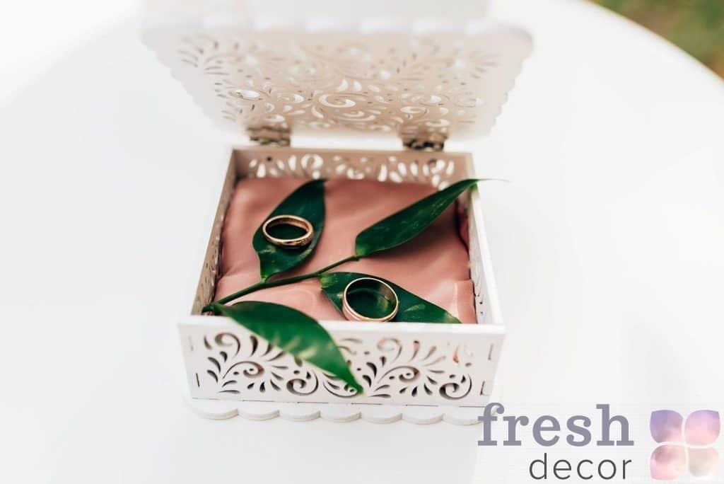 коробочка для колец на выездную церемонию