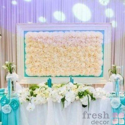 арка картина из цветов