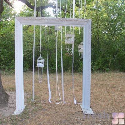 арка на свадьбу в виде картины