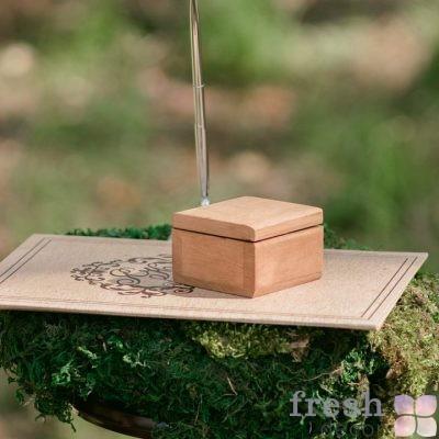 коробочка для колец из дерева