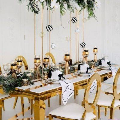 Стулья и столы для банкета